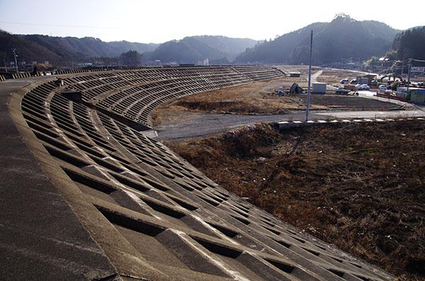 田老の防潮堤(内側)