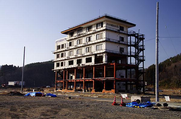 被災したたろう観光ホテル