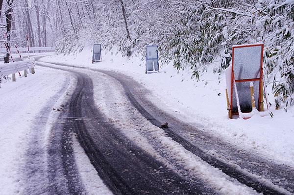 雪の立丸峠