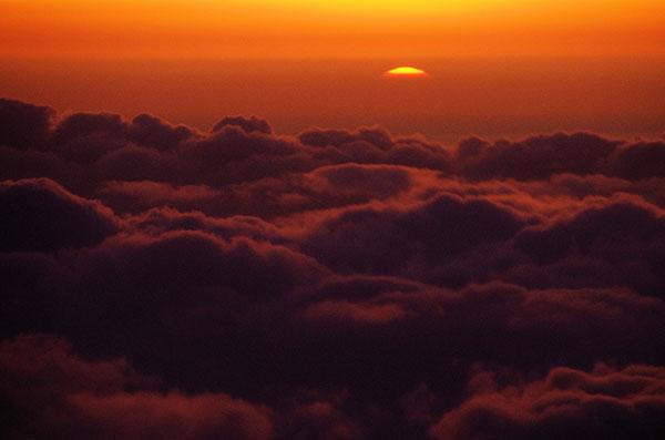 山形上空の夕景