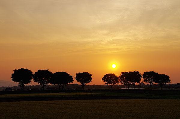 大津町の夕景