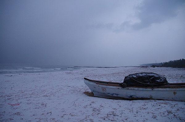弓ヶ浜の雪景