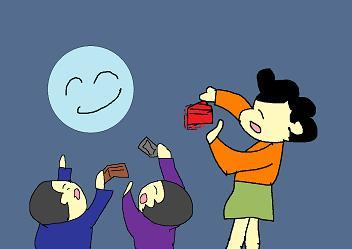 満月の夜にはフリフリ
