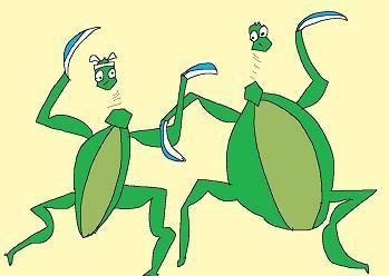 カマキリの決闘4