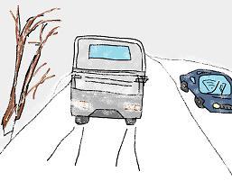 雪道の走行