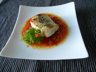 Grilled Moki with red sauce
