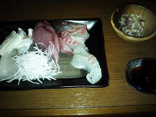 鯛&かんぱち刺身