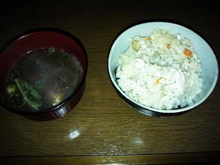 鯛飯&あら味噌汁