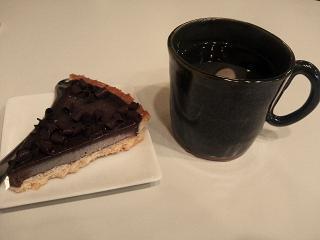 チョコレートケーキ&コーヒ