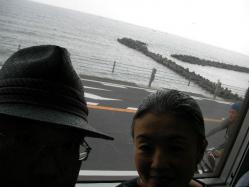 江ノ電から海を望む