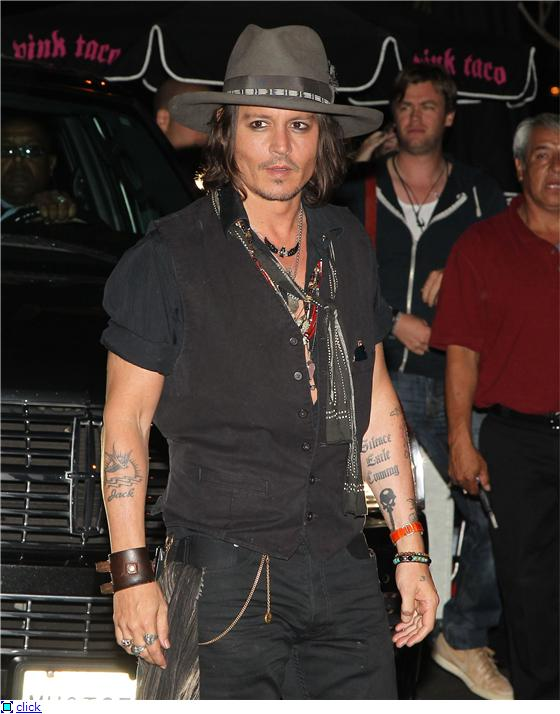 Aerosmith hollywood bowl johnny depp rocks