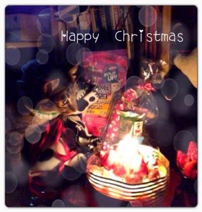 家族だけのクリスマスは ハッピ~♪