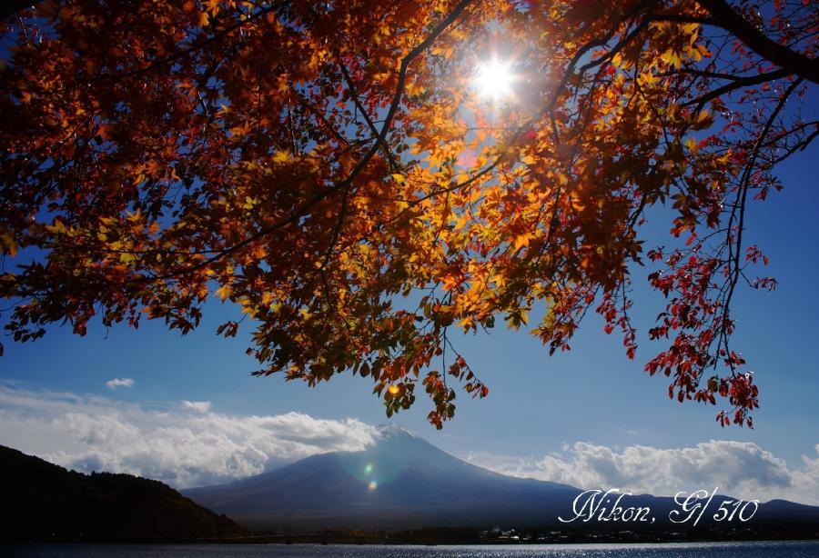 河口湖の光芒s