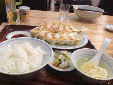 ダブル餃子定食