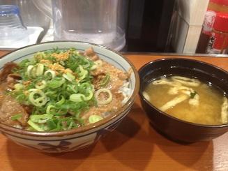ネギ焼き牛丼 (2)