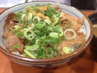 ネギ焼き牛丼 (1)