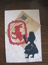 アリスの切り絵
