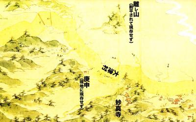 浦賀道見取絵図:妙真寺付近