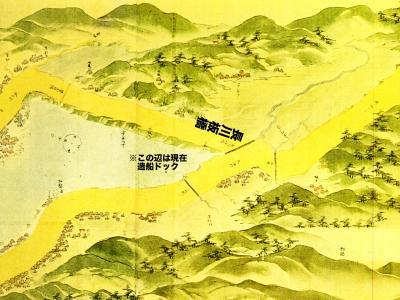 浦賀道見取絵図:浦賀付近