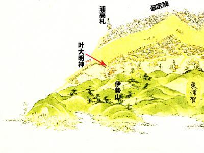 浦賀道見取絵図:東浦賀付近