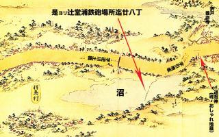 東海道分間延絵図:引地川右岸