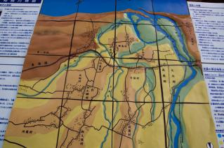 旧東海道:旧相模川橋脚解説模型から-3
