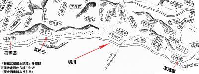 新編武蔵多磨郡正保図より