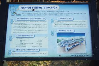 今井川地下調節池の案内
