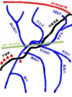 柏尾川vs.旧東海道概念図