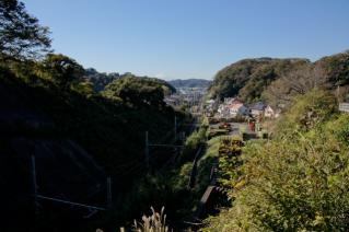 浦賀道(鎌倉):名越坂上から西方を望む
