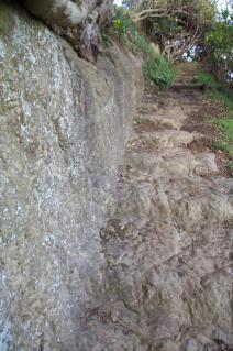 浦賀道(戸塚):鐙摺山の階段