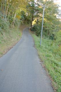 木古庭・不動の滝への急坂