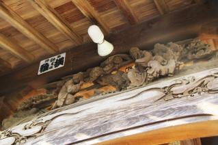 浦賀:為朝神社の彫刻