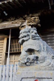 浦賀:為朝神社の狛犬