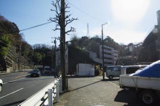 浦賀道(金沢):船越付近に横たわる尾根