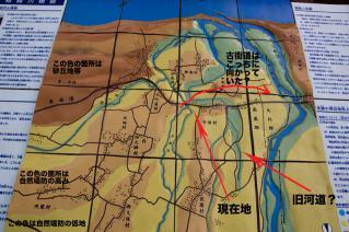 旧東海道:旧相模川橋脚解説模型から-2