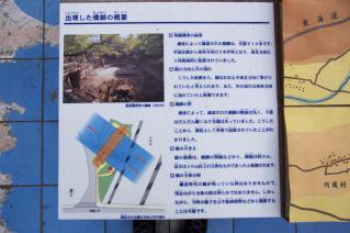 旧東海道:旧相模川橋脚解説模型から