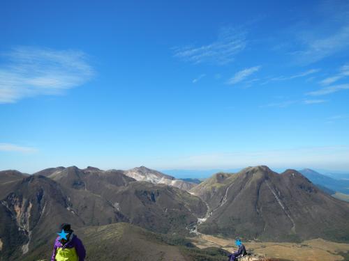 三俣山、くじゅう方向