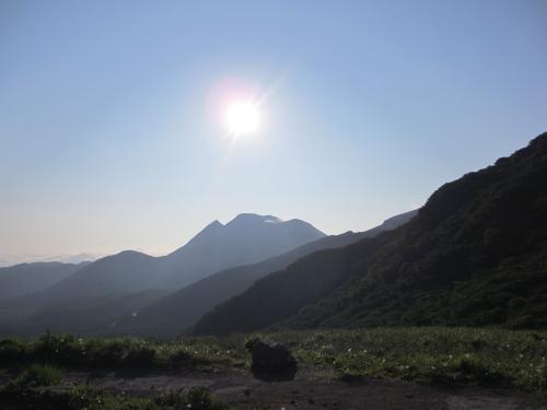 展望台からの三股山