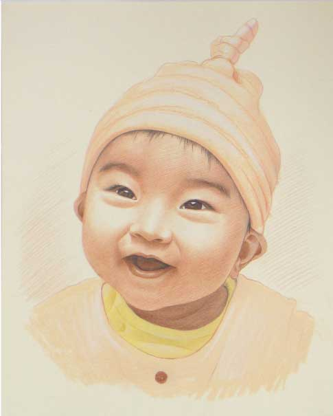 色鉛筆画の肖像画