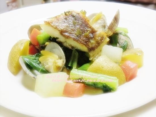 鯛のポワレ温野菜添え♪