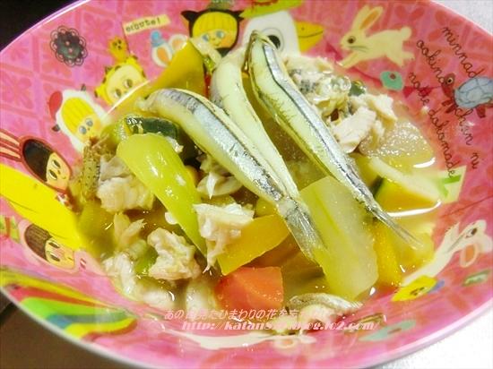 魚と野菜のサフランスープ♪