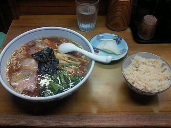 まるいちチャーシューメン定食