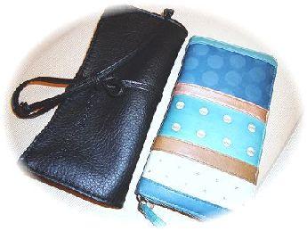ブラシと長財布