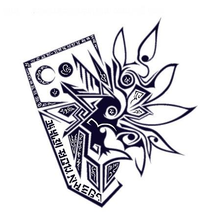 鴉用紋章「バーンアウトレイヴン」