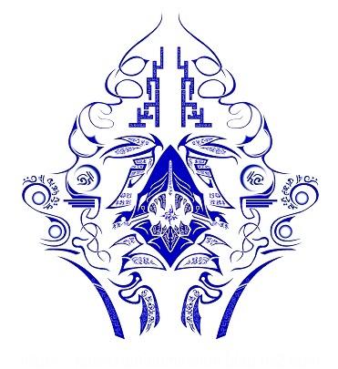 蒼牙用紋章「タスク・オブ・アズール」