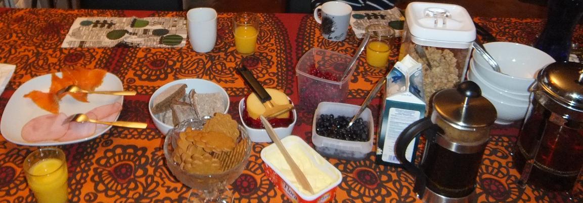 クリスティーナ宅 朝食