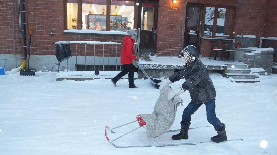 雪遊び 雪かき