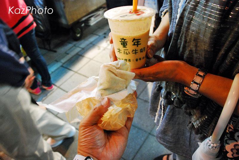 潤餅と木瓜牛乳@寧夏夜市