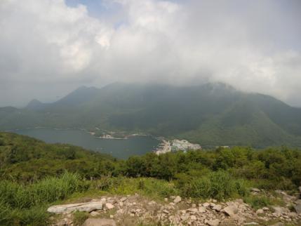 黒檜、駒ヶ岳は雲の中